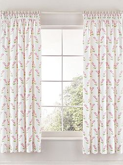 Alice unlined curtains 66x72cm pink