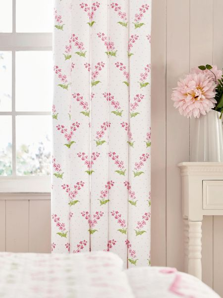Helena Springfield Alice unlined curtains 66x72cm pink