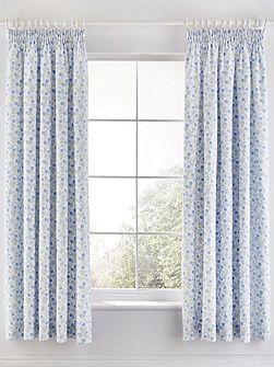 Molly unlined curtains 66x72cm blue