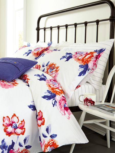 Joules Salcombe floral oxford pillowcase