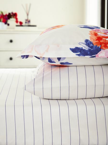 Joules Salcombe floral fitted sheet