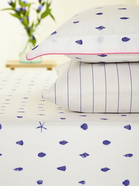 Joules Painted shells fitted sheet