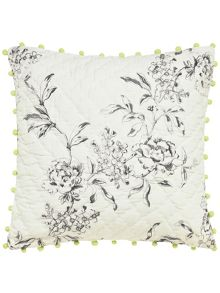 Joules London in bloom cushion 40x40cm creme