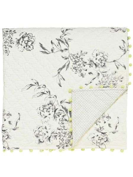 Joules London in bloom throw 150x180cm creme