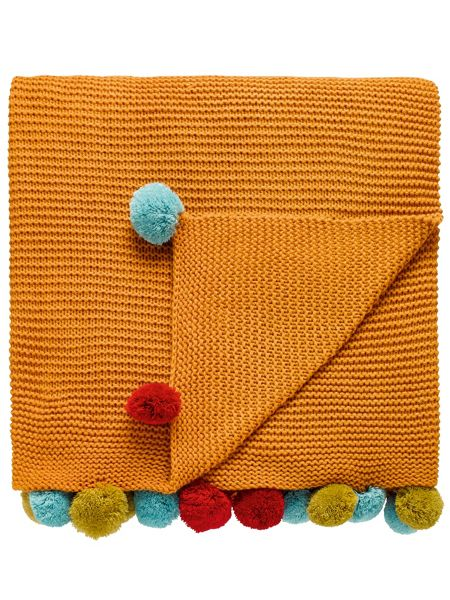 Scion Anneke pom-pom throw 150x200cm honey