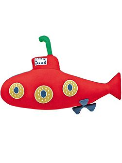 Up periscope submarine cushion red