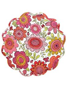Scion Bloomin lovely flower cushion raspberry