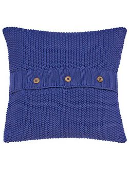 Moss stitch cushion 40x40cm deep blue
