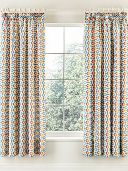V&A Pompeii curtains 66x72in multi-coloured