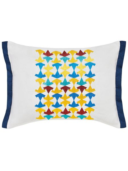V&A Alhambra cushion 30x40cm white & navy