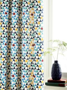 V&A Alhambra curtains 66x72in navy