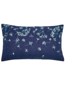 Clarissa Hulse Clover stripe cushion 50X30cm navy
