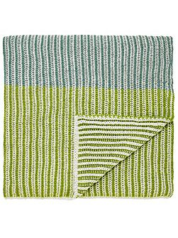 Parvani knitted throw 140X200cm teal