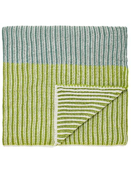Echo Parvani knitted throw 140X200cm teal