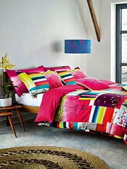 Watercolour patchwork duvet cover
