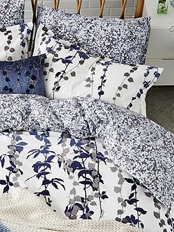 Boston Ivy oxford pillowcase indigo