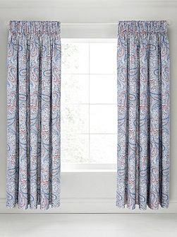Damara lined curtains 90x90 blue