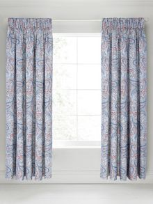Bedeck 1951 Damara lined curtains 66x72 blue