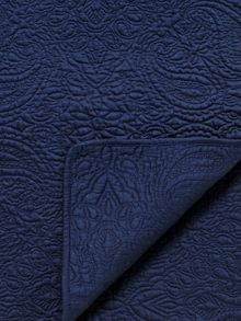 Bedeck 1951 Damara throw 170x220cm navy