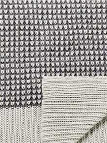 Bedeck 1951 Senna knitted throw 150x200cm charcoal