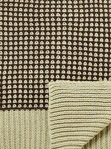 Bedeck 1951 Loya knitted throw 150x200cm ash