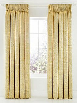 Nala lined curtains 90x90 gold