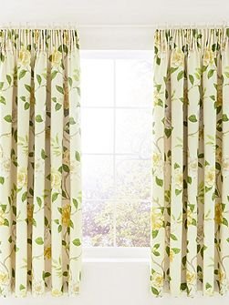 Christabel lined curtains 66x72 yellow