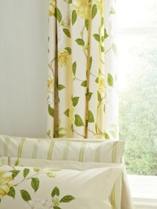 Sanderson Christabel lined curtains 66x72 yellow