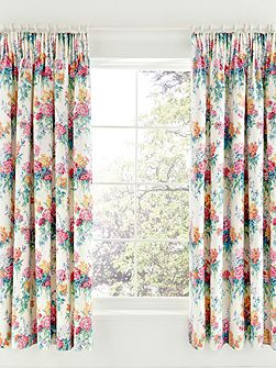 Sweets williams lined curtains 66x72 multicolour