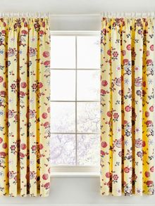 V&A Emiri curtains 66x72 unlined yellow