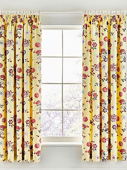 Emiri curtains 66x72 unlined yellow