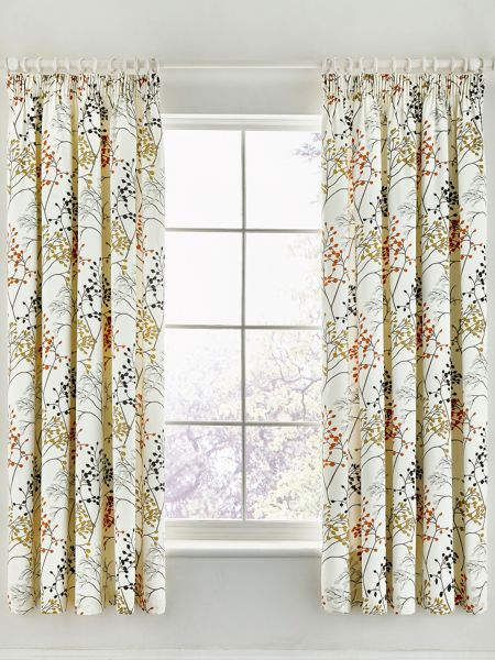 Sanderson Pippin lined curtains 66X72 charcoal/coral