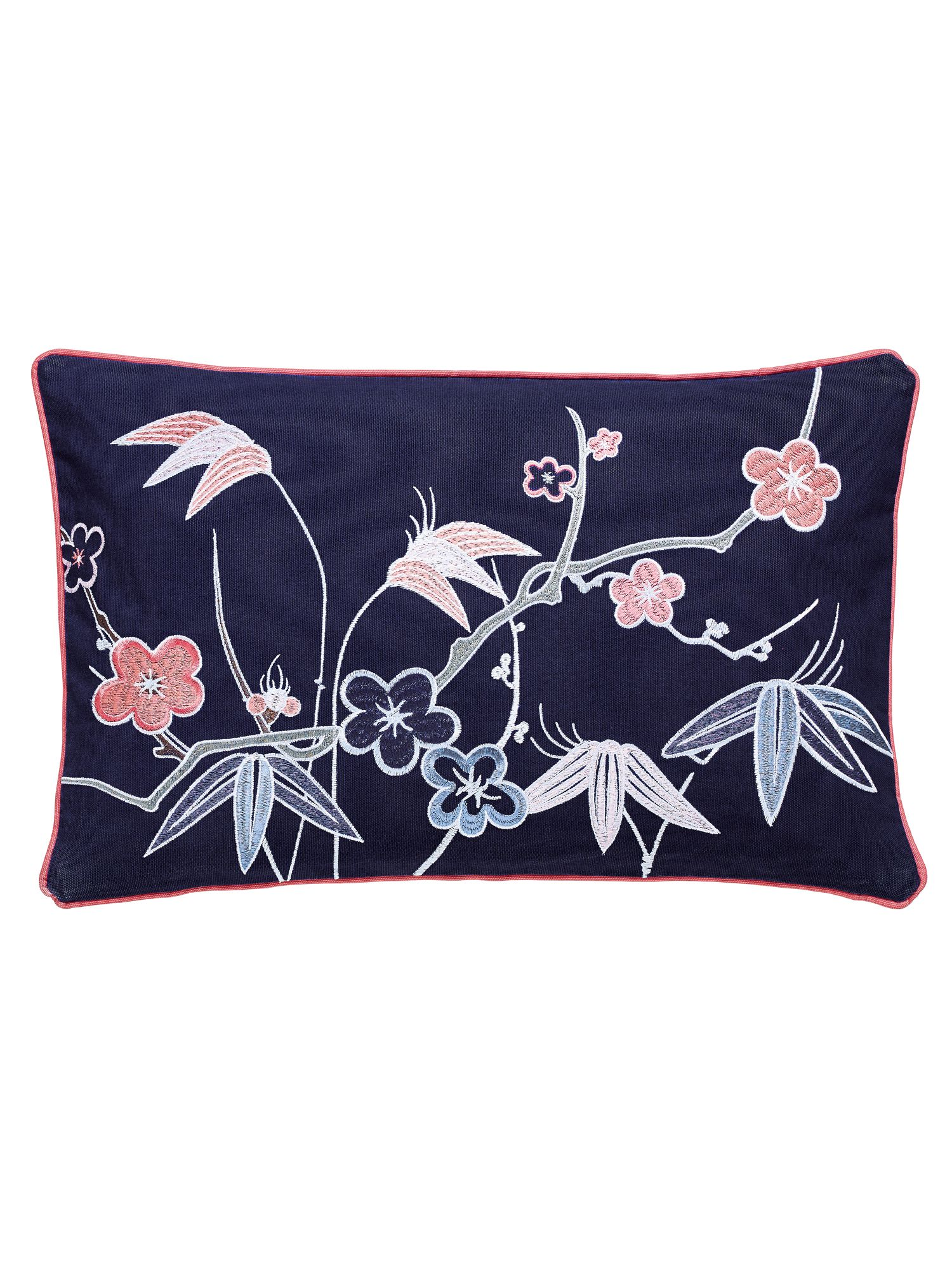Image of V&A Akimi cushion 30X50cm navy