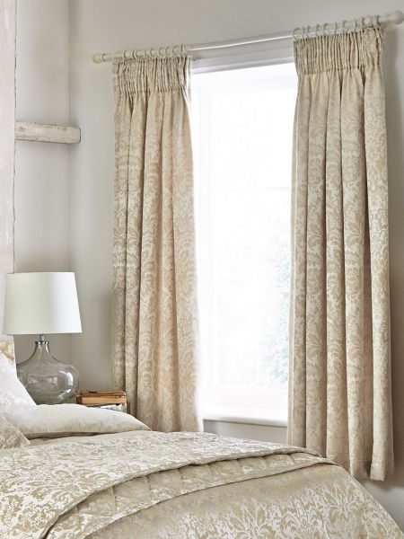 Sanderson Floriella lined curtains 66X72 Oyster