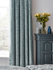 Sanderson Floriella lined curtains 66X72 Slate Blue