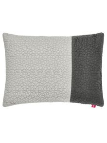 Joules Grey stitch cushion 30x40cm