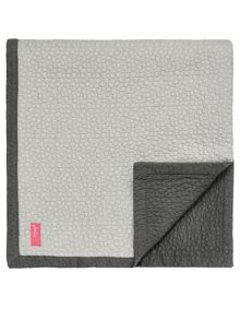Joules Grey stitch throw 150x200cm
