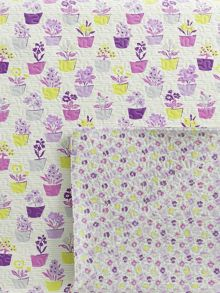 Helena Springfield Polly quilted throw 230x265cm foxglove