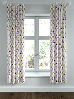 Polly lined curtains 66x72 foxglove