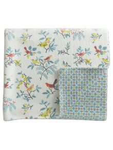 Helena Springfield Tilly quilted throw 230x265cm duck egg