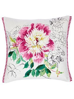 Sibylla embroidered cushion 40x40cm