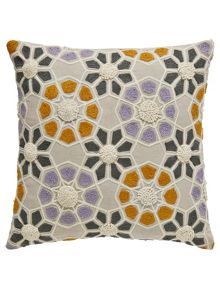Bedeck 1951 Minoa cushion 40x40cm heather