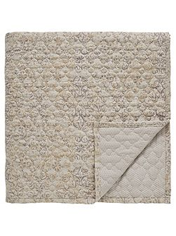 Minoa quilted throw 265x260cm heather