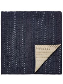 Clarissa Hulse Indigo patchwork throw 150x200cm indigo