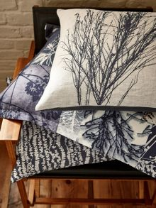 Clarissa Hulse Indigo patchwork cushion 45x45cm indigo