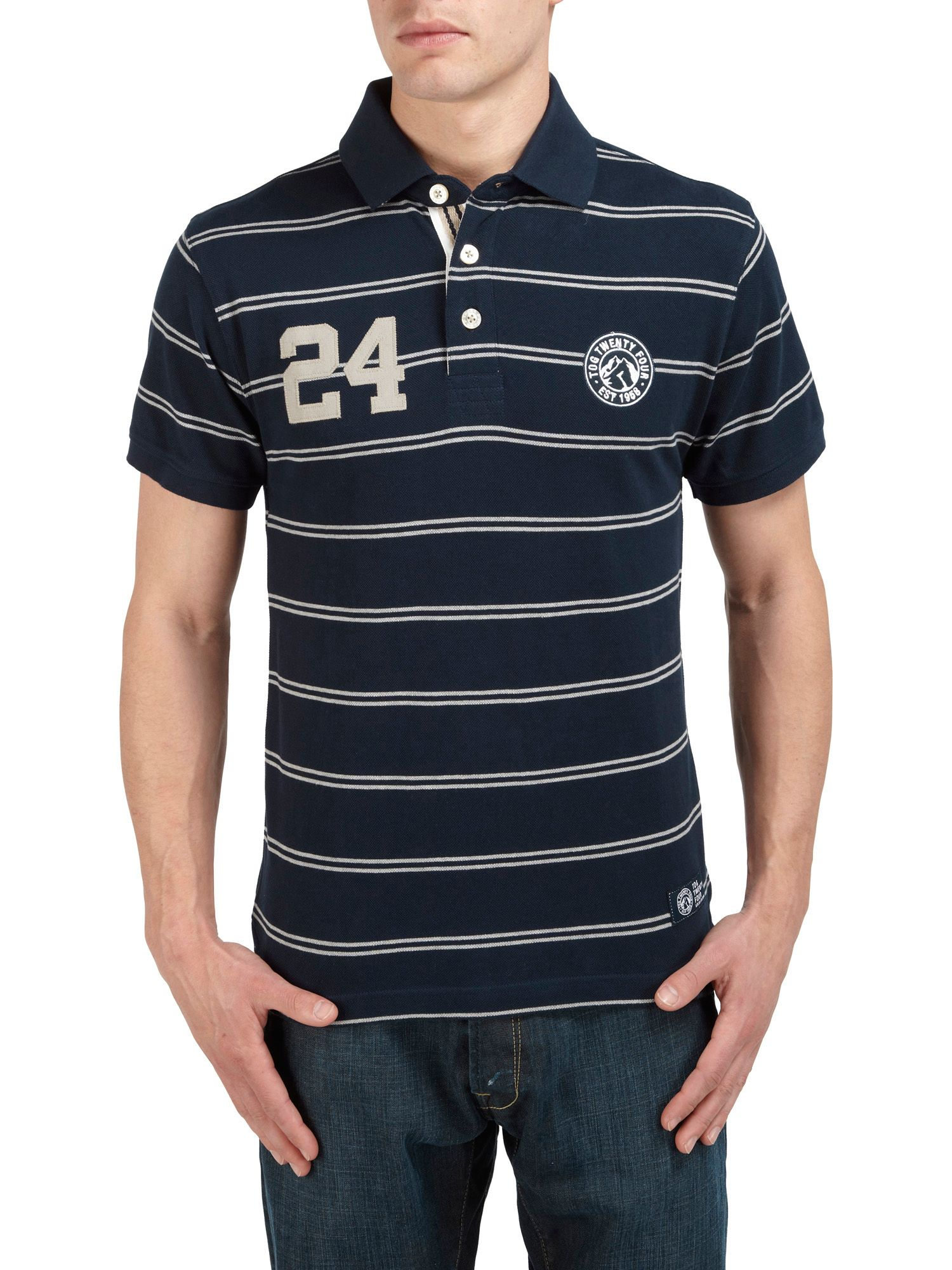 Comet stripe short sleeve polo shirt