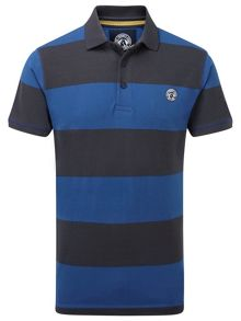Booth stripe short sleeve polo shirt