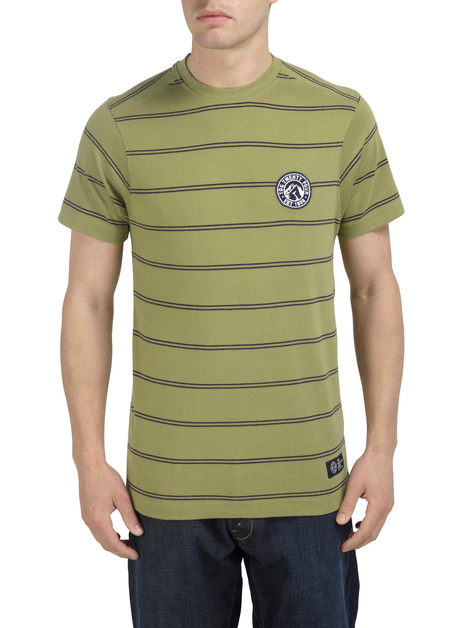 Mars stripe short sleeve t-shirt