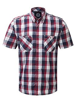 Severn Check Short Sleeve Classic Collar Shirt