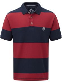 Bennett stripe mens polo shirt